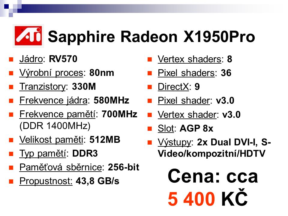 ATI Sapphire Radeon X1950Pro