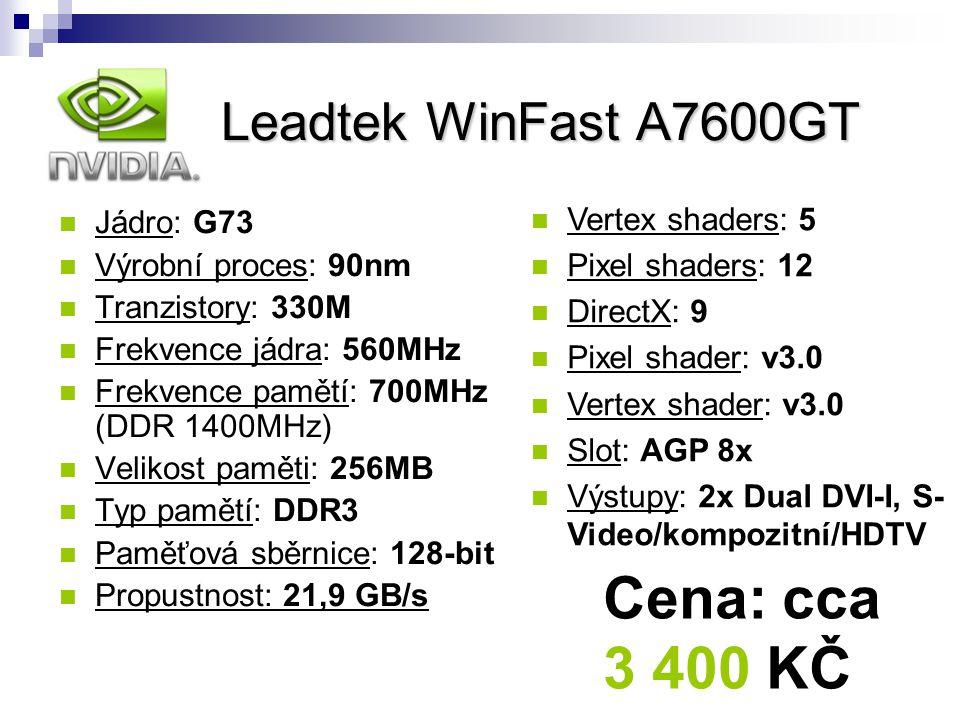 nVidia Leadtek WinFast A7600GT