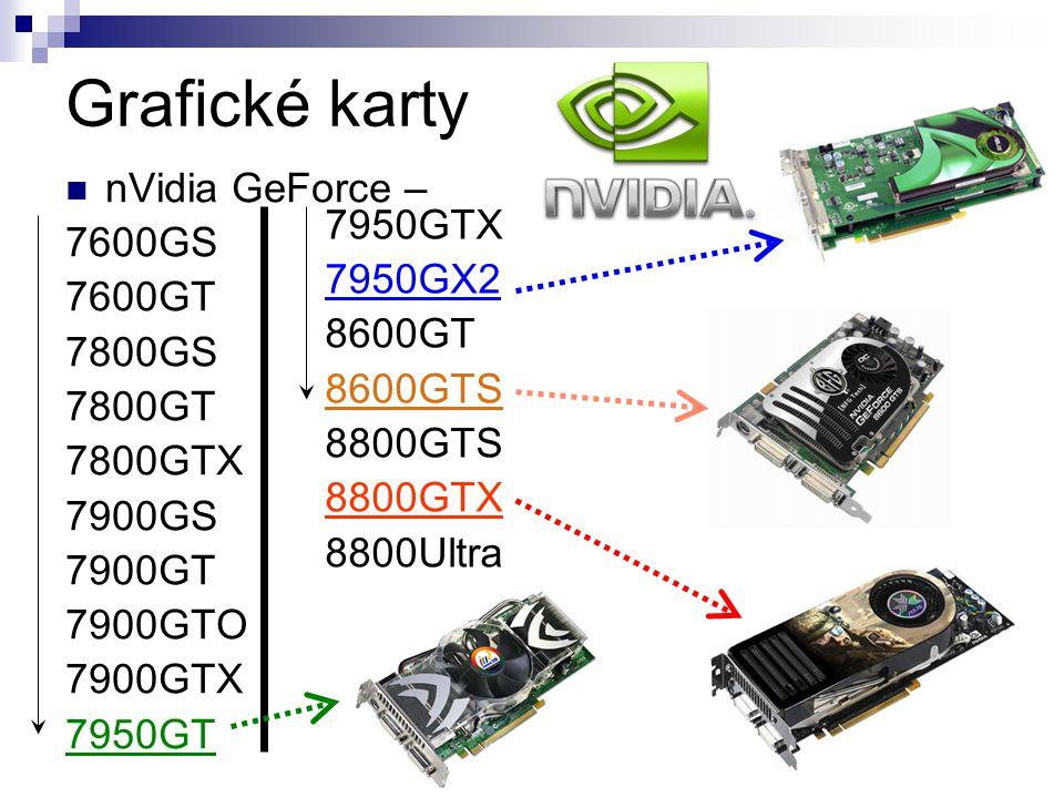 Grafické karty nVidia GeForce – 7600GS 7950GTX 7600GT 7950GX2 7800GS