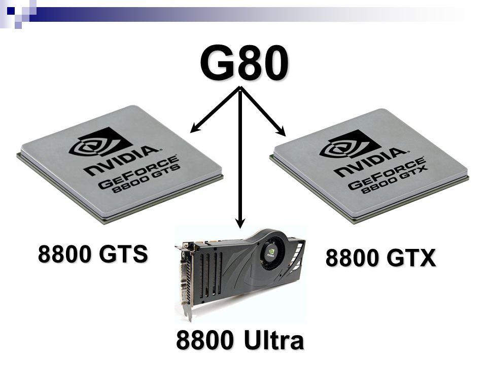 G80 8800 GTS 8800 GTX 8800 Ultra