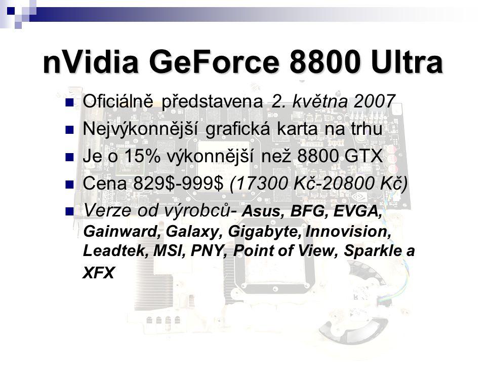 nVidia GeForce 8800 Ultra Oficiálně představena 2. května 2007