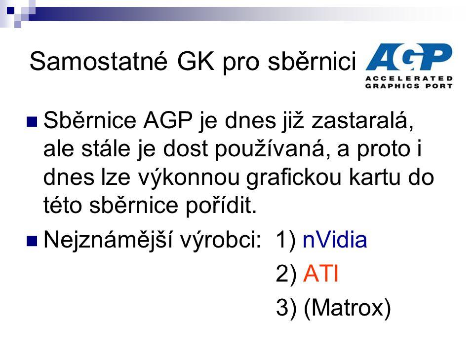 Samostatné GK pro sběrnici AGP