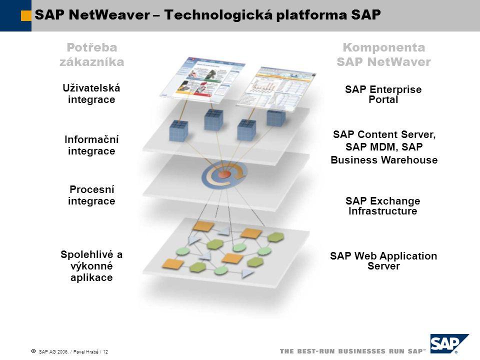 SAP NetWeaver – Technologická platforma SAP