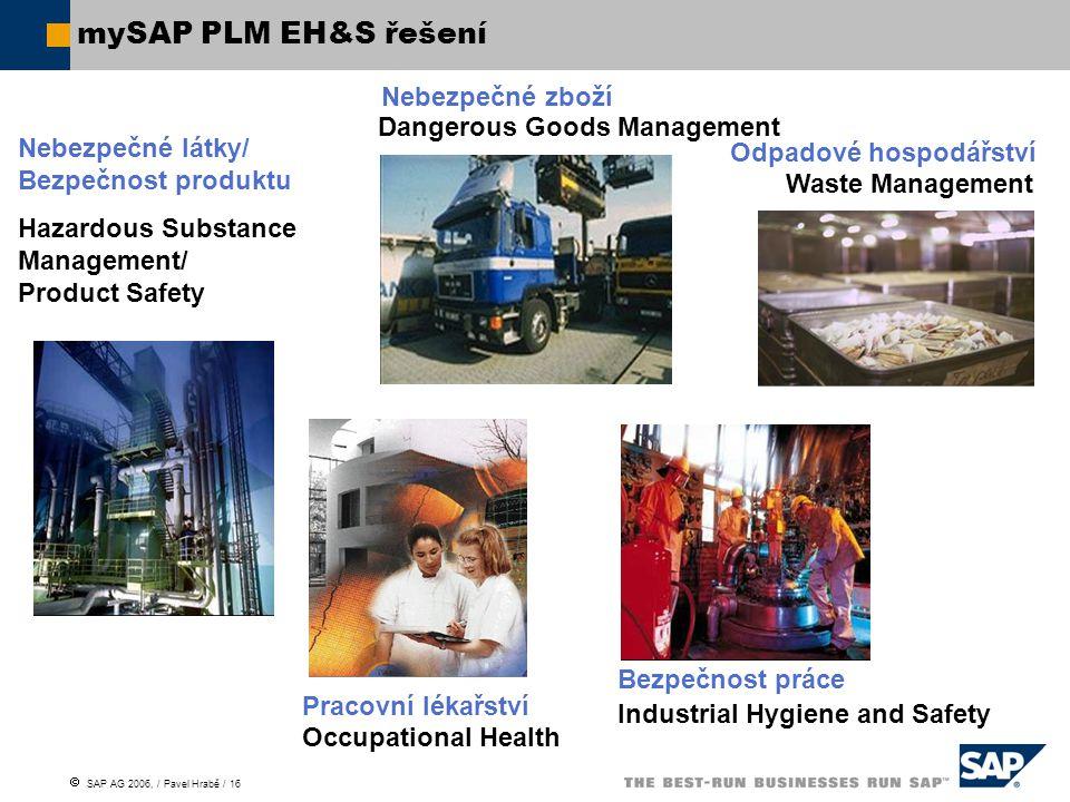 mySAP PLM EH&S řešení Nebezpečné zboží Dangerous Goods Management