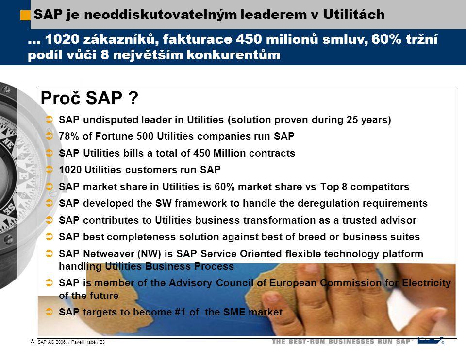 SAP je neoddiskutovatelným leaderem v Utilitách