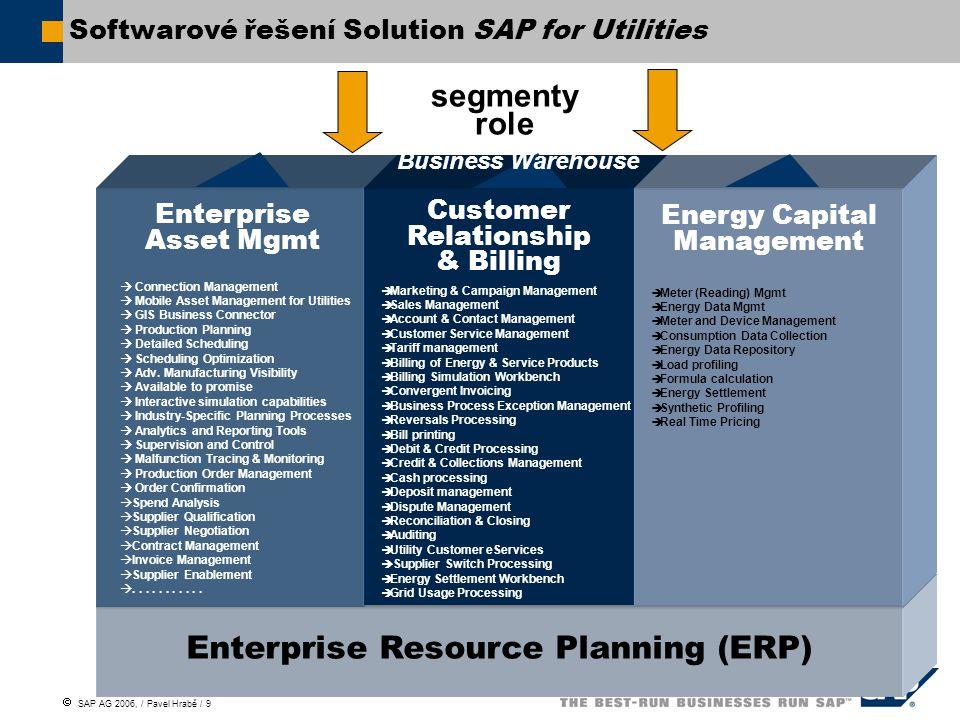 Softwarové řešení Solution SAP for Utilities