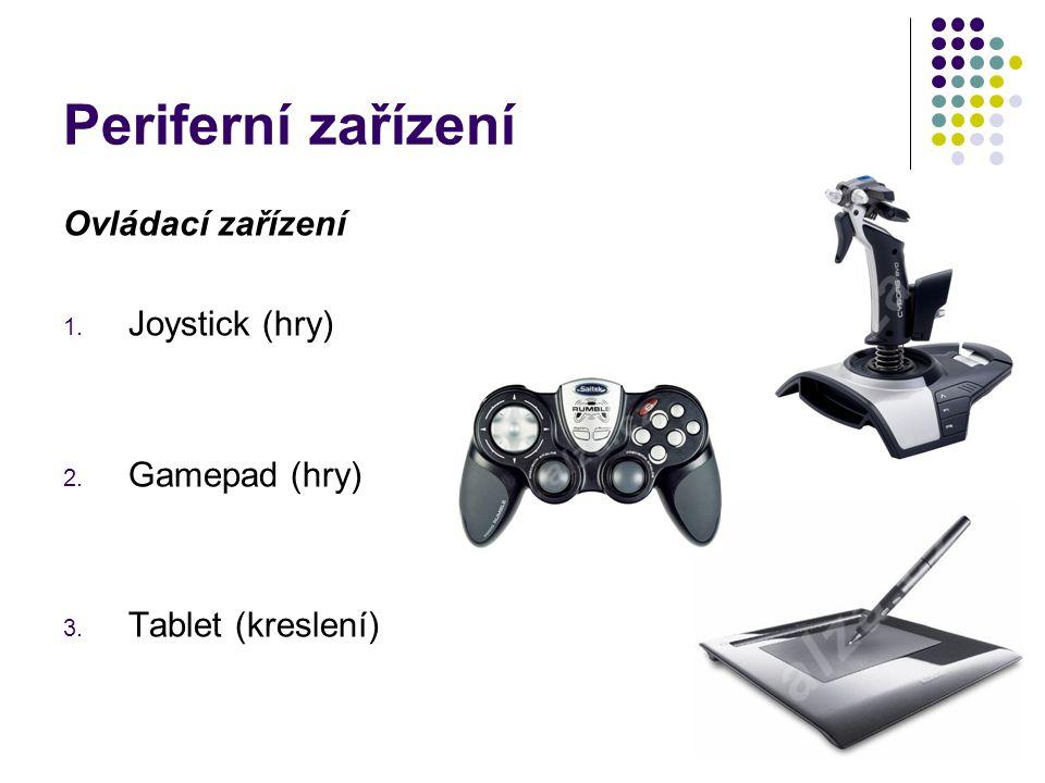Periferní zařízení Ovládací zařízení Joystick (hry) Gamepad (hry)