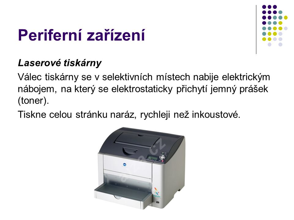 Periferní zařízení Laserové tiskárny