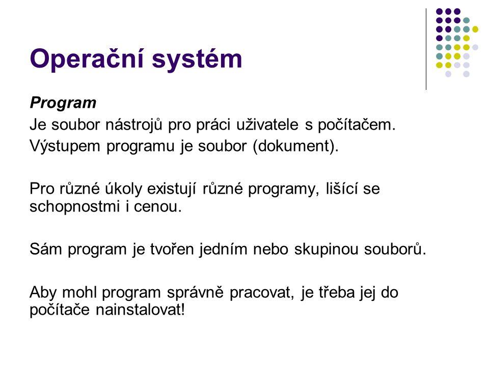 Operační systém Program