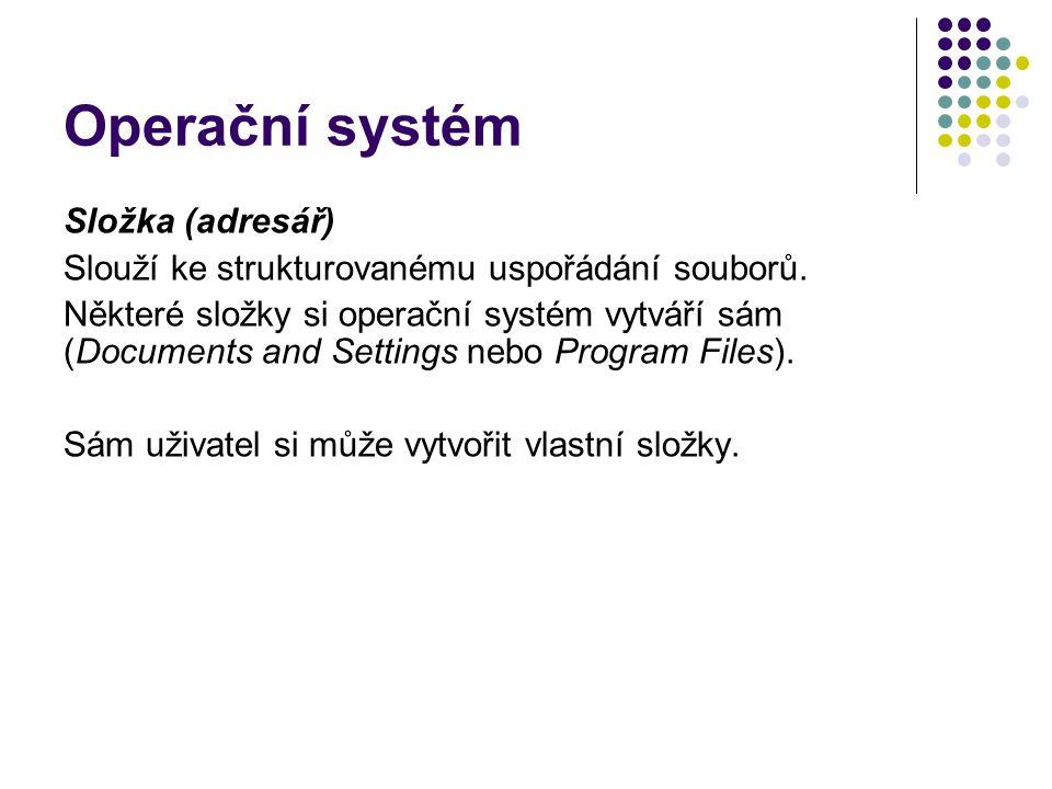 Operační systém Složka (adresář)