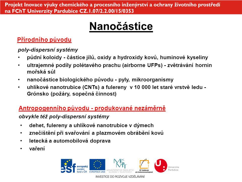 Nanočástice Přírodního původu