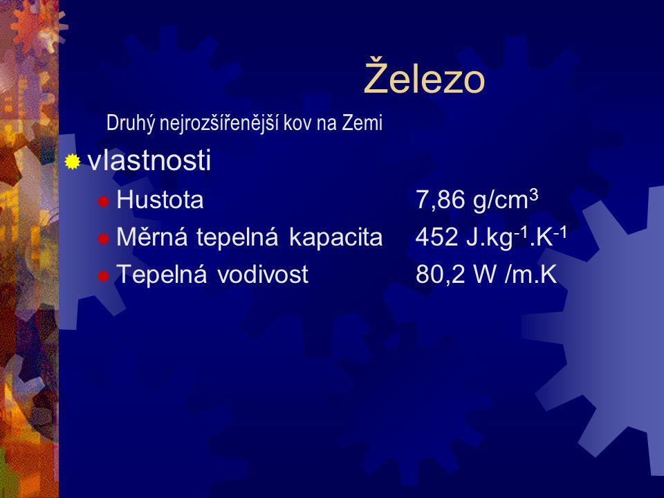 Železo vlastnosti Hustota 7,86 g/cm3