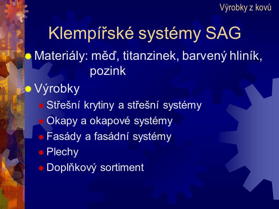 Klempířské systémy SAG