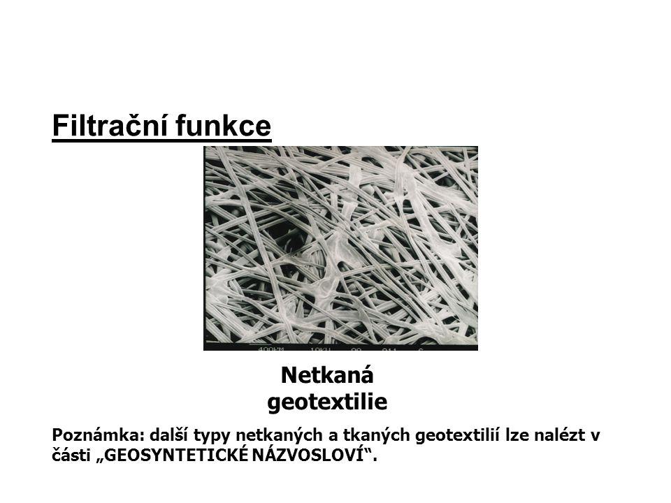 Filtrační funkce Netkaná geotextilie