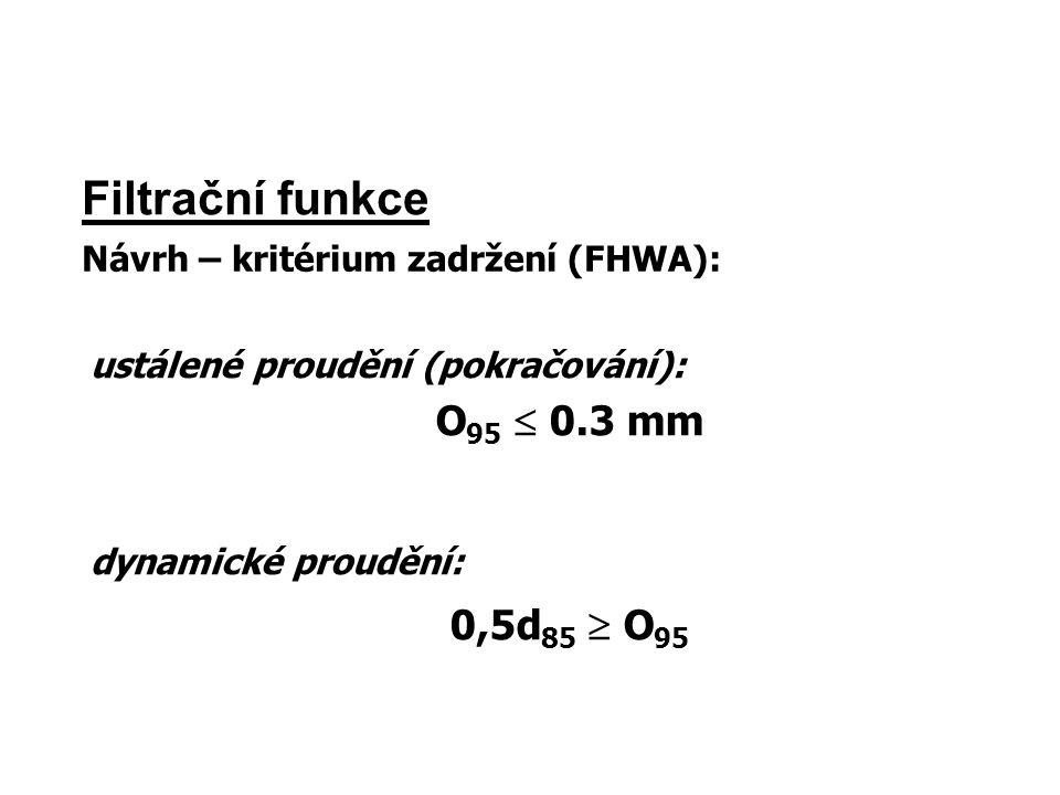 Filtrační funkce O95  0.3 mm 0,5d85  O95