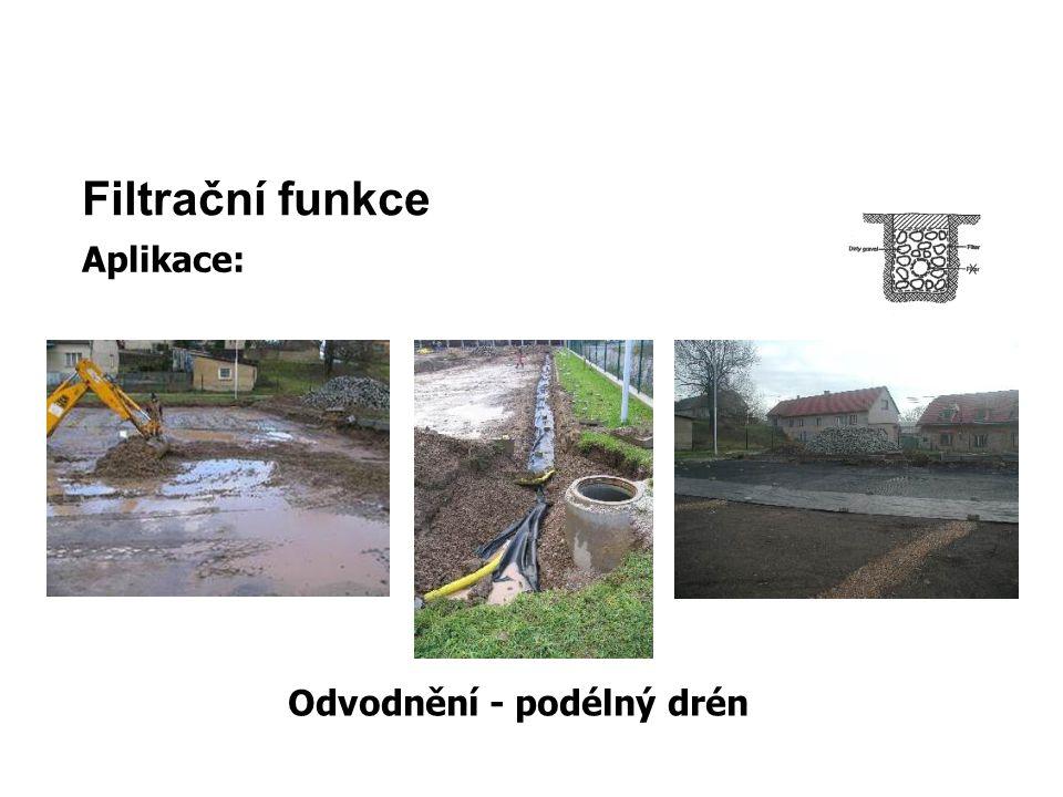 Odvodnění - podélný drén