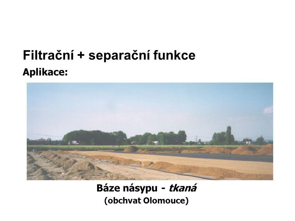 Filtrační + separační funkce