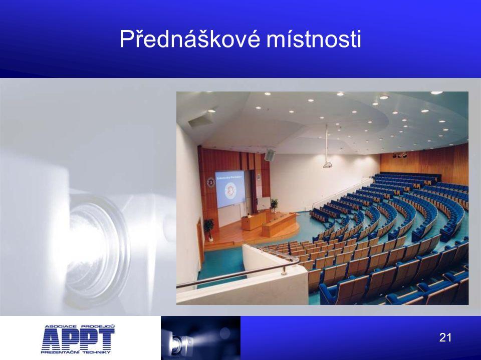 Přednáškové místnosti