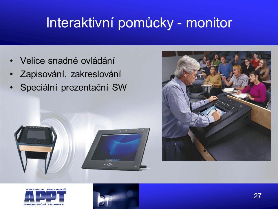 Interaktivní pomůcky - monitor