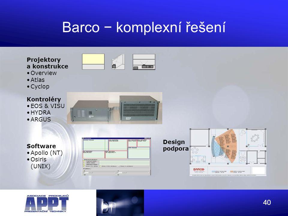 Barco − komplexní řešení