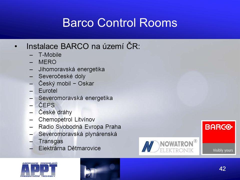 Barco Control Rooms Instalace BARCO na území ČR: T-Mobile MERO