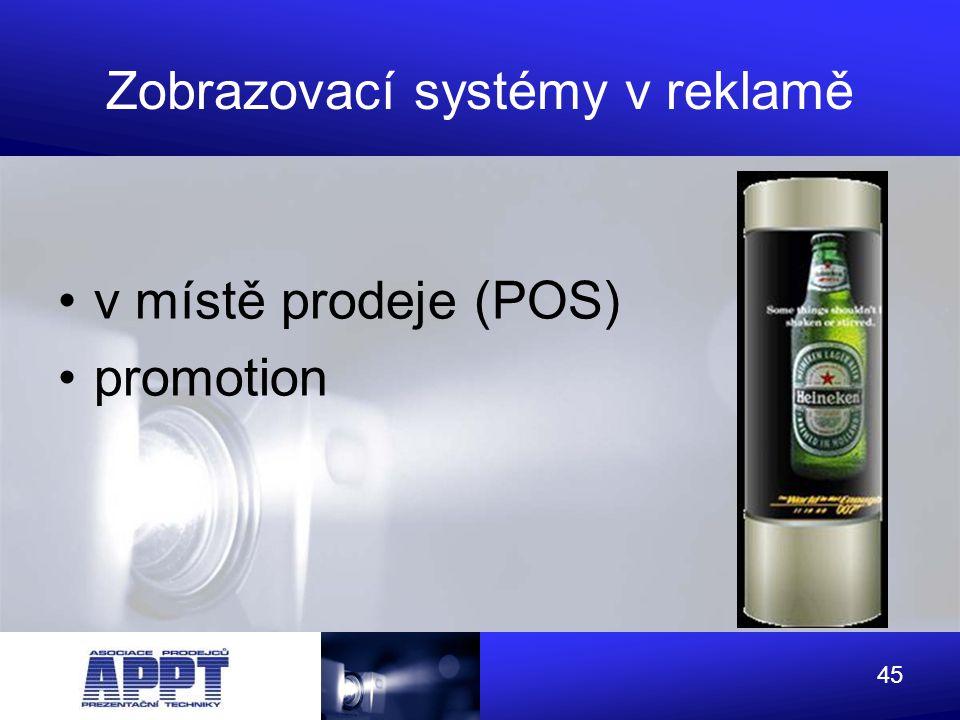 Zobrazovací systémy v reklamě