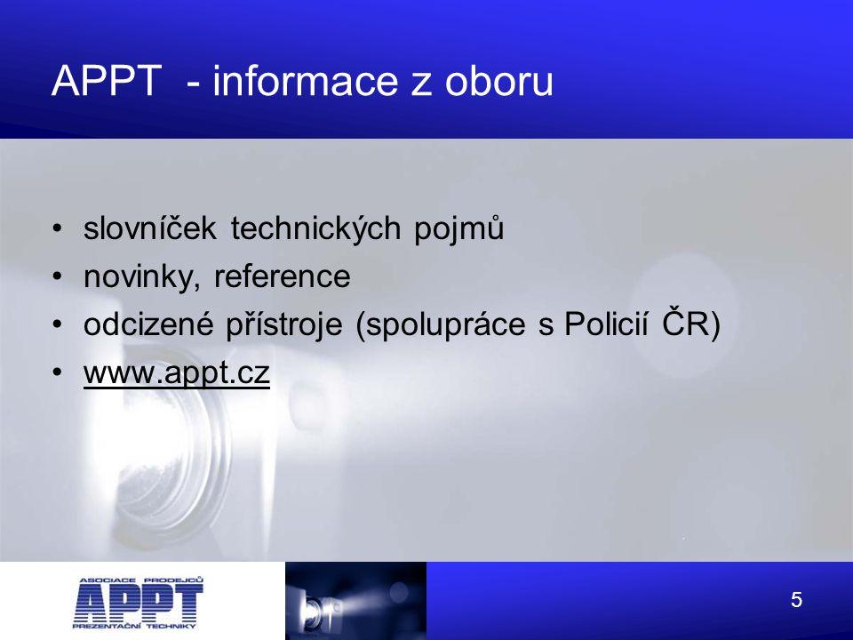 APPT - informace z oboru
