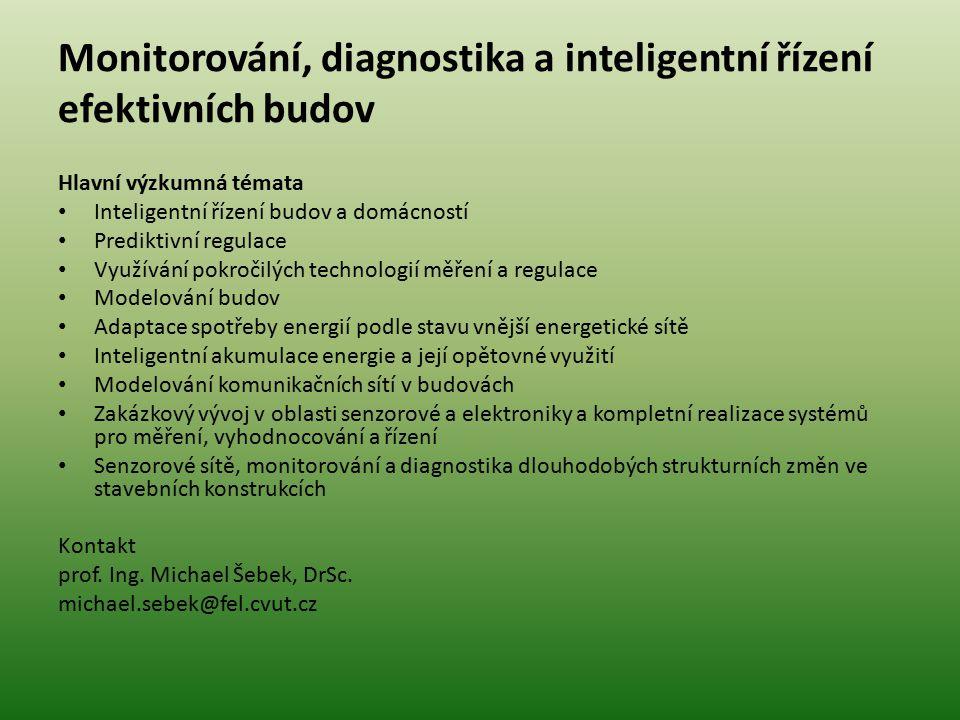 Monitorování, diagnostika a inteligentní řízení efektivních budov