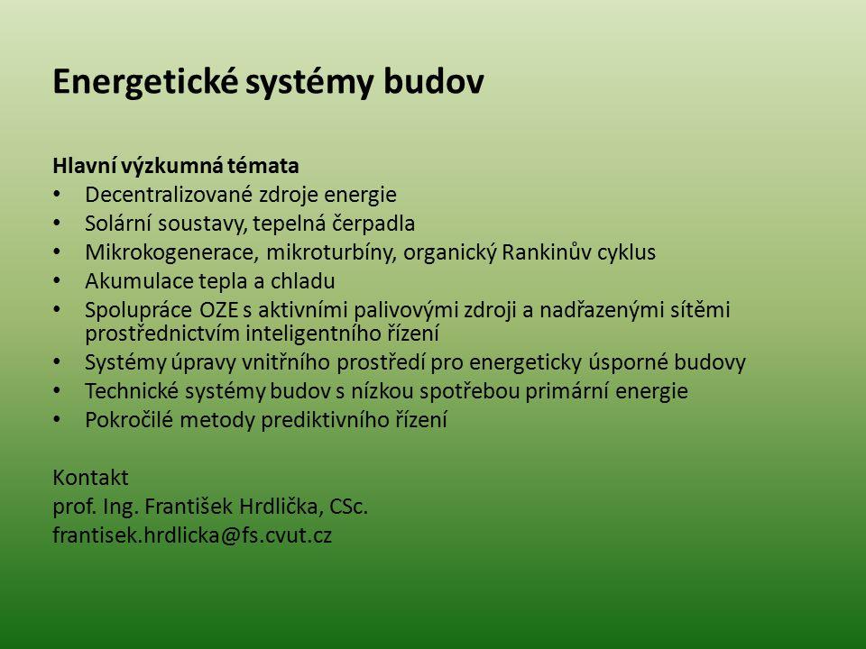 Energetické systémy budov