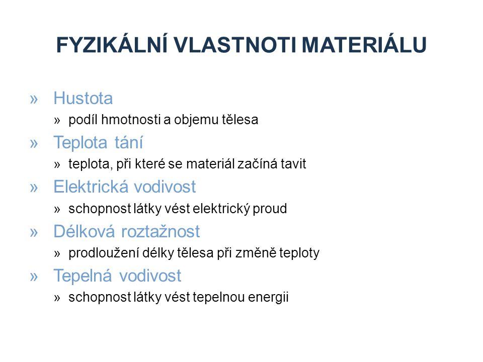 Fyzikální vlastnoti materiálu