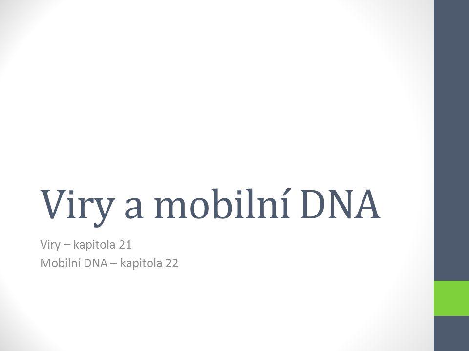 Viry – kapitola 21 Mobilní DNA – kapitola 22