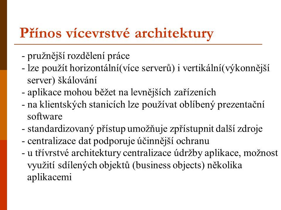 Přínos vícevrstvé architektury