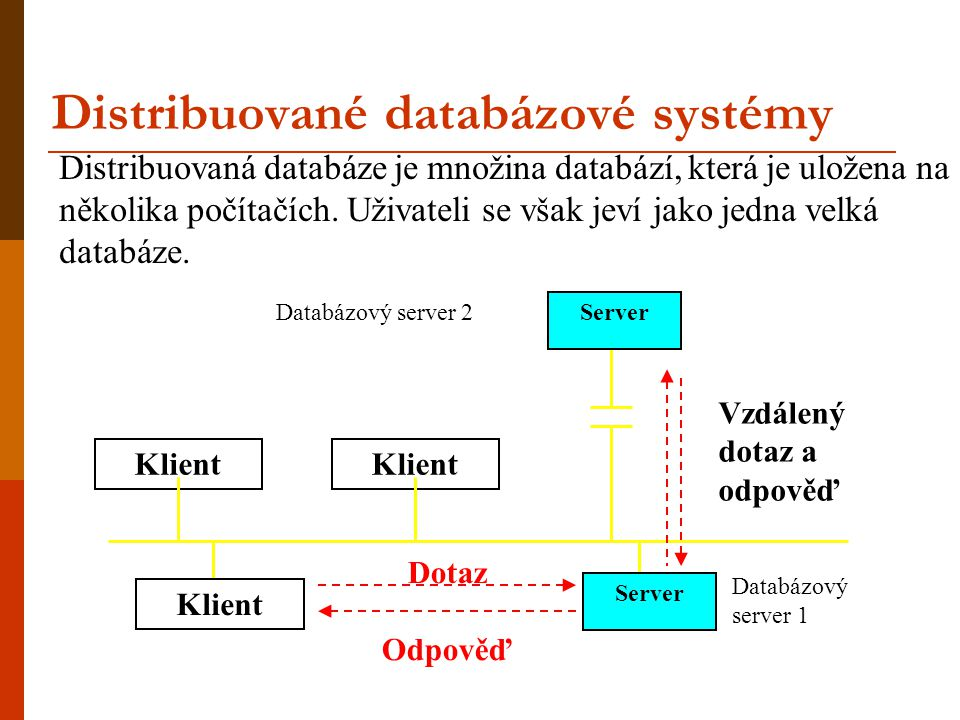 Distribuované databázové systémy