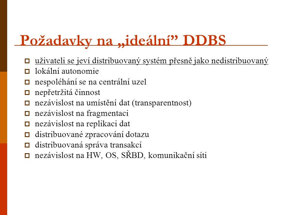 "Požadavky na ""ideální DDBS"