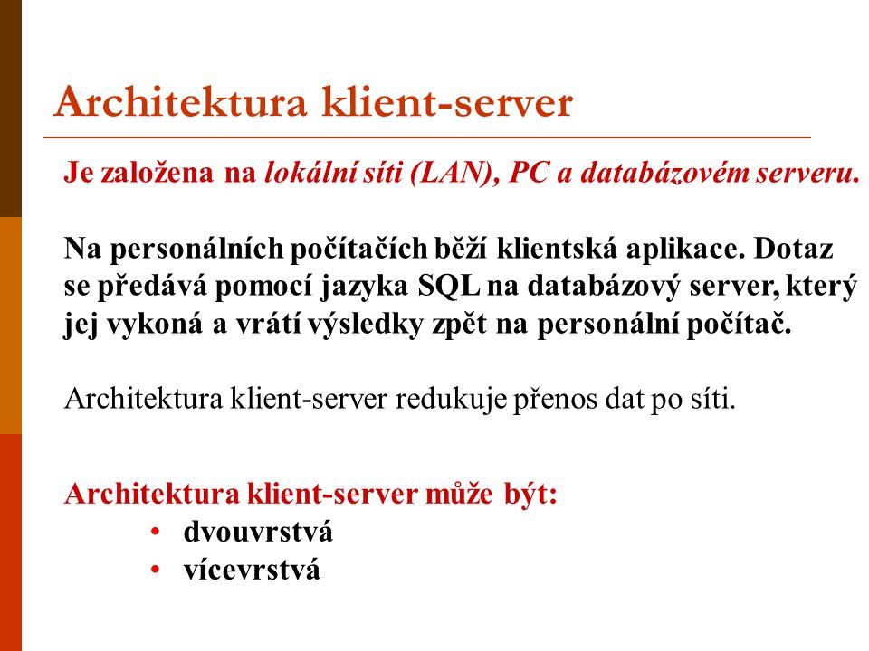 Architektura klient-server