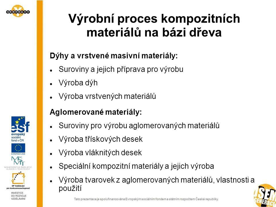 Výrobní proces kompozitních materiálů na bázi dřeva