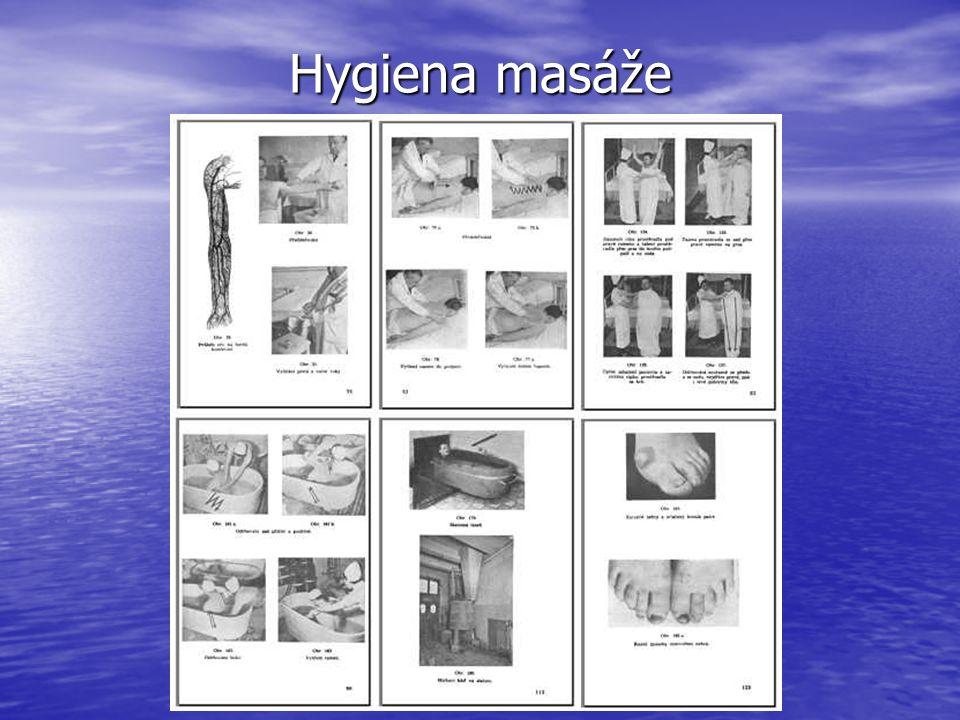 Hygiena masáže