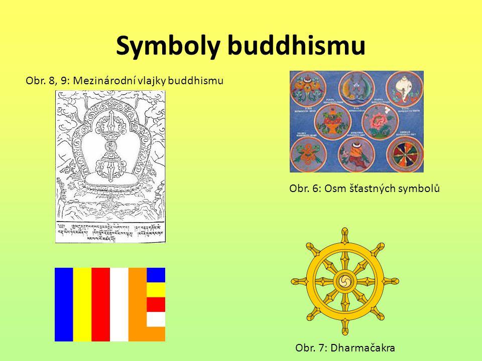 Symboly buddhismu Obr. 8, 9: Mezinárodní vlajky buddhismu
