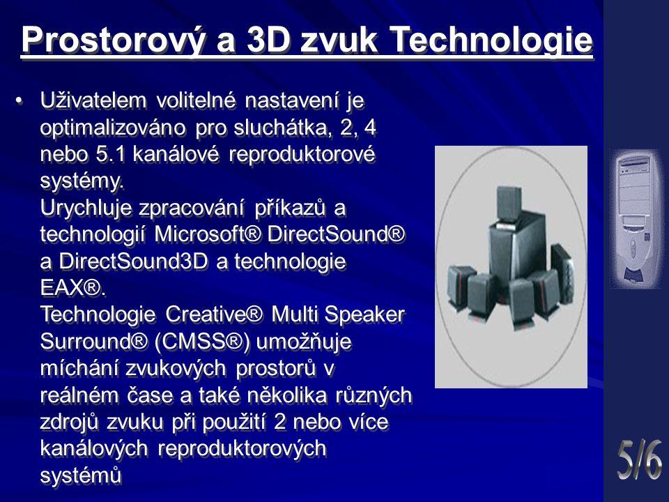Prostorový a 3D zvuk Technologie