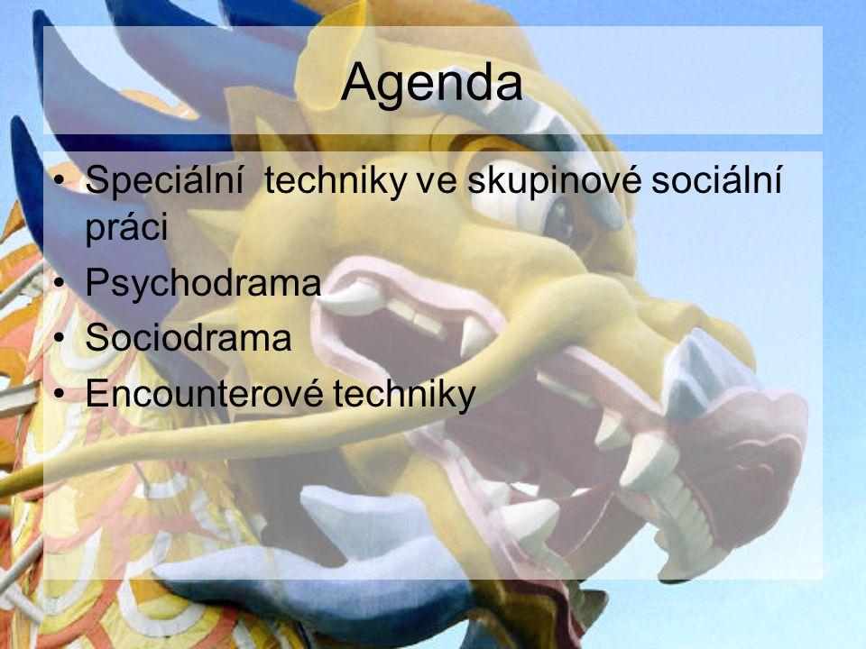 Agenda Speciální techniky ve skupinové sociální práci Psychodrama