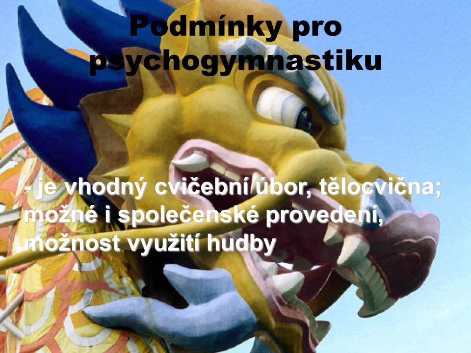 Podmínky pro psychogymnastiku