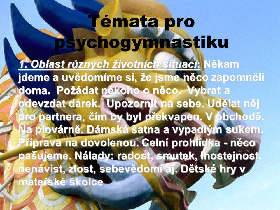 Témata pro psychogymnastiku