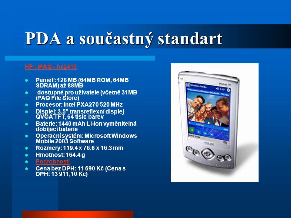 PDA a součastný standart