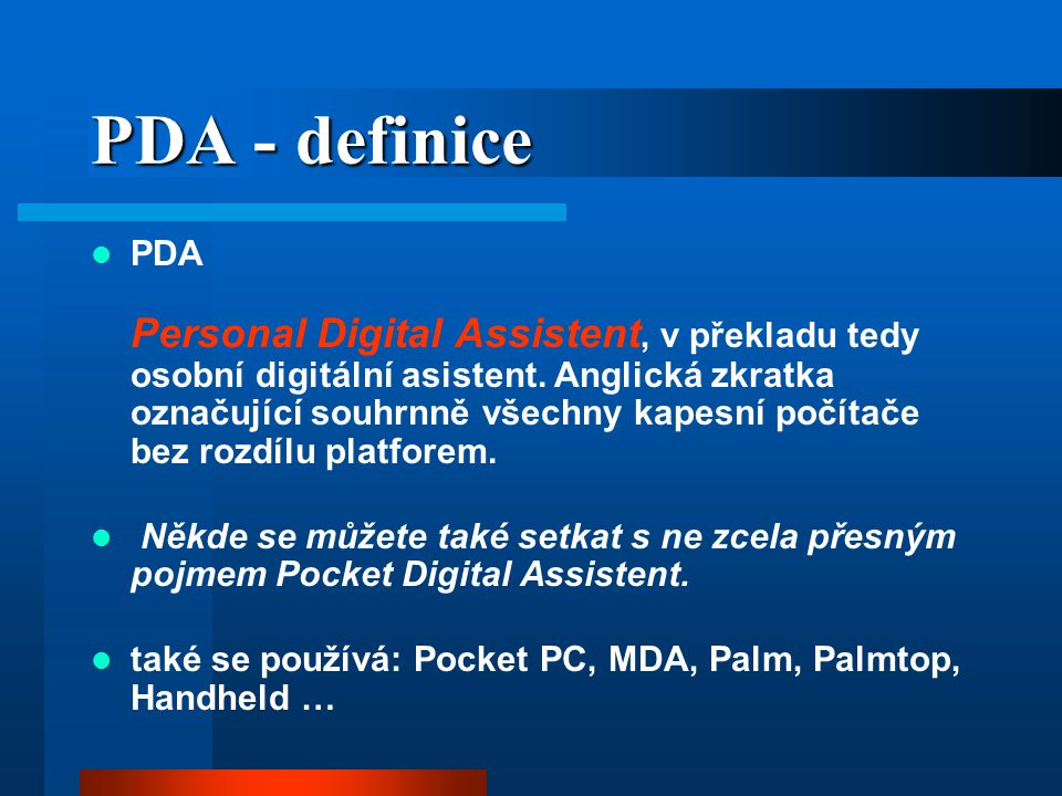 PDA - definice