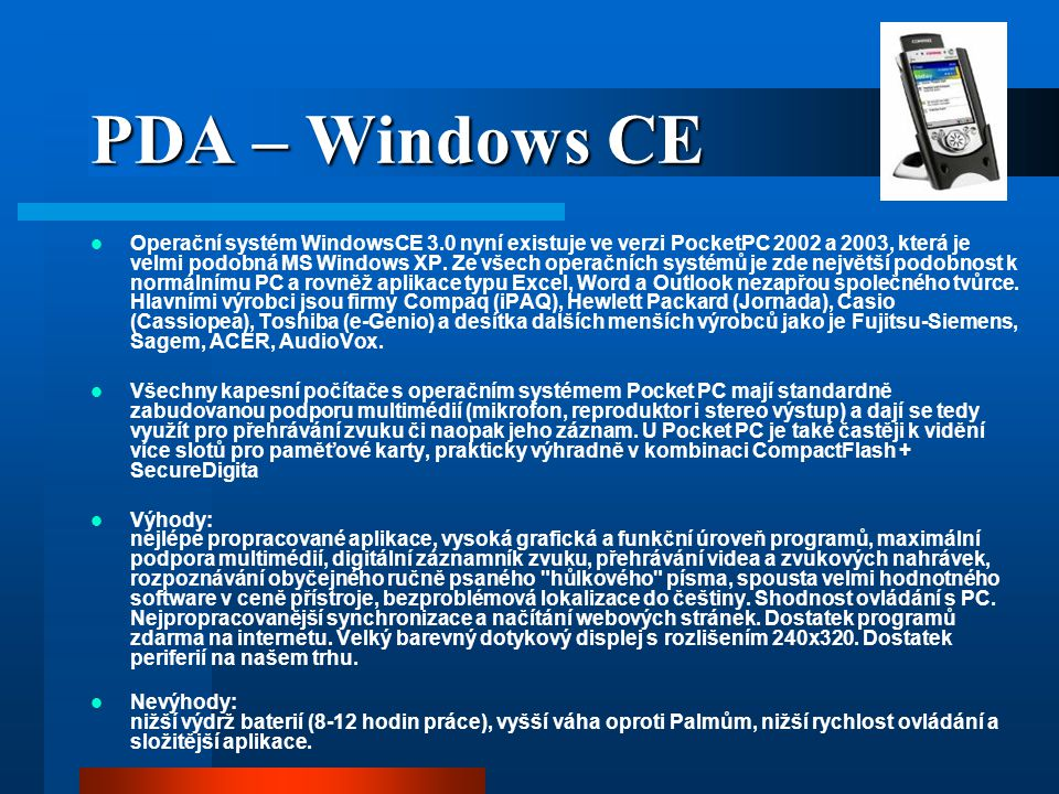 PDA – Windows CE