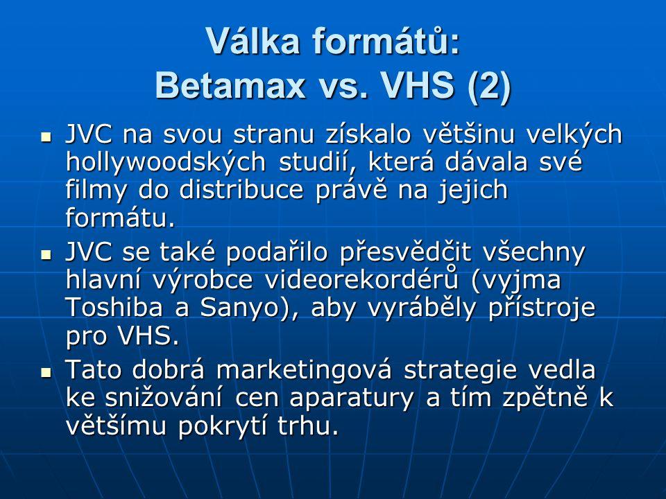 Válka formátů: Betamax vs. VHS (2)