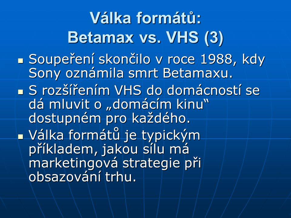 Válka formátů: Betamax vs. VHS (3)