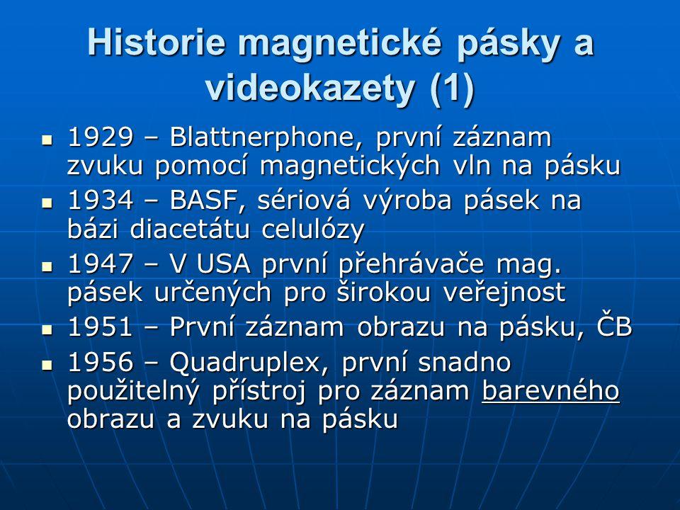Historie magnetické pásky a videokazety (1)