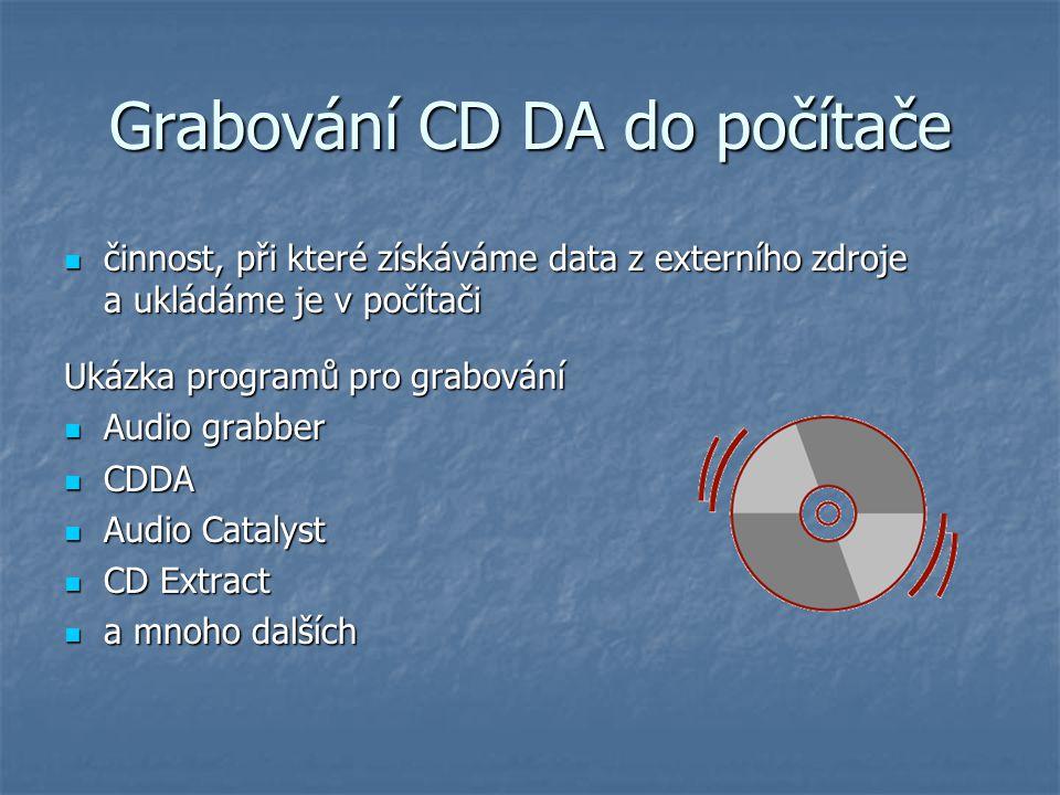 Grabování CD DA do počítače