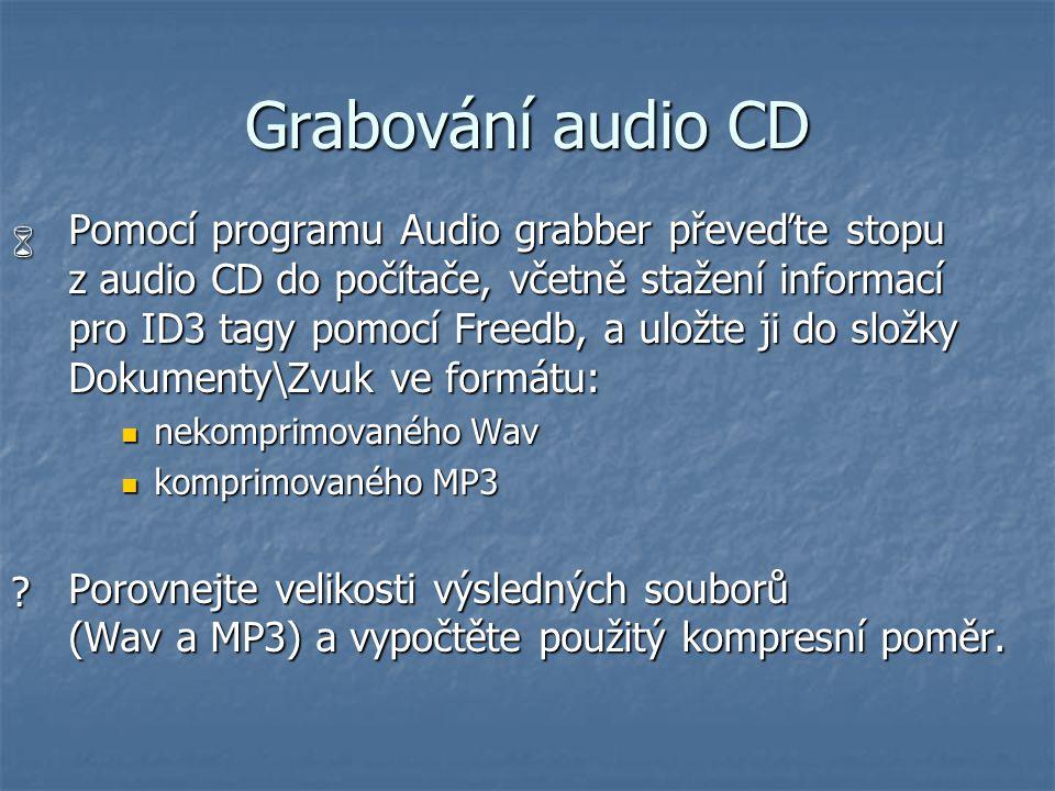 Grabování audio CD